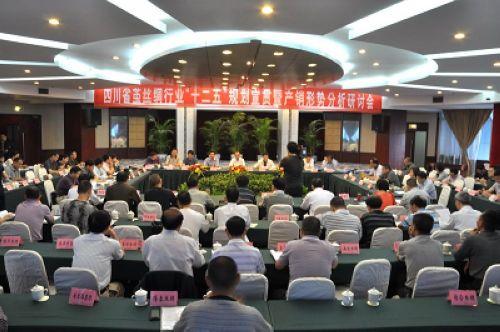 """四川省茧丝绸行业""""十二五""""规划宣贯暨产销形势分析研讨会在南充召开"""