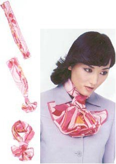 真丝围巾系法